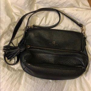 Black Leather Kate Spade Convertible Crossbody